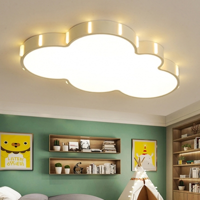 Nordic Style Cloud Led Flush Light Baby Kids Room Lighting Fixture