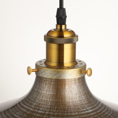 Single Light 1 Light Industrial LED Lighting with Bowl Shade