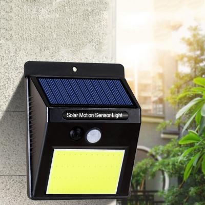 20/25/30 LED Solar Wall Light with Motion Sensor Waterproof Deck Light in Black for Garage