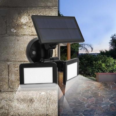 Rotatable Solar Light with Radar Sensor and Dusk to Dawn Sensor 48-LED Security Light for Yard