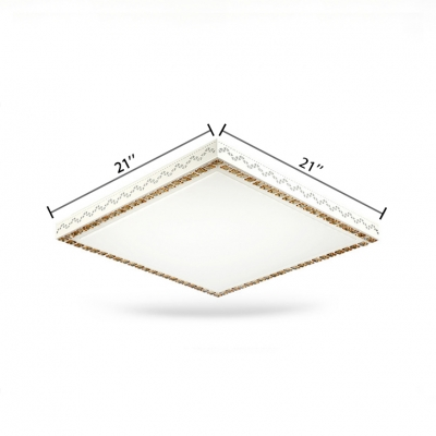 Contemporary Square Flush Mount Light Acrylic Led Ceiling Lamp With