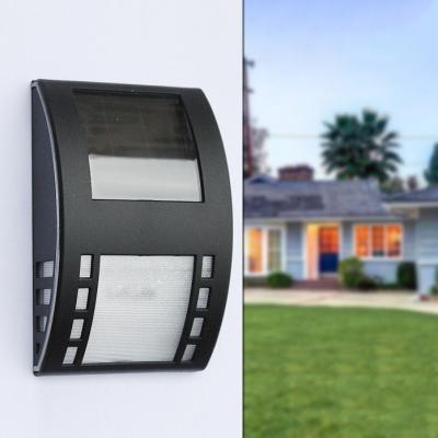 3 LED Solar Step Lights with Dusk to Dawn Sensor Waterproof Black Deck Lights for Yard