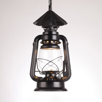 Kerosene Hanging Lamp Kitchen Single Light Vintage Antique Pendant Lamp in Black/Copper/Bronze