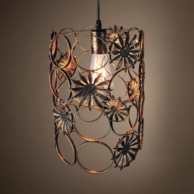 Metal Cylinder Ceiling Light Fixture Single Rustic Overhead