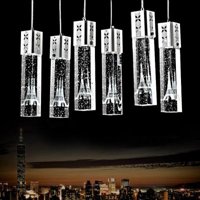 Modern Crystal Pendant Lighting with 25.5