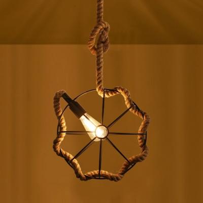 Brown Globe Pendant Lighting with 31.5