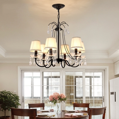 Metal Tapered Chandelier Adjustable 5/6 Lights Classic Light Fixture with 19.5