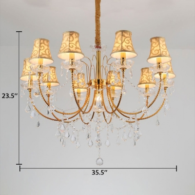 Tapered Chandelier Dining Room 9/11 Lights Modern Hanging Chandelier with 12