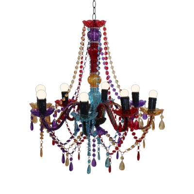 Traditional Candle Pendant Lighting with 18