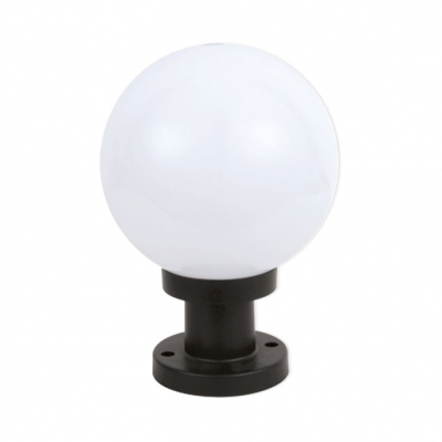 1 Pack LED Landscape Lighting Acrylic Waterproof Globe Post Lamp for Garden Pathway