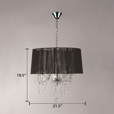 Contemporary Drum Chandelier with 39