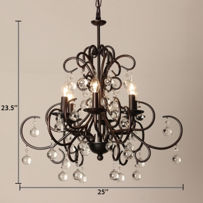 Foyer Candle Hanging Chandelier Metal Traditional Oiled Rubbed Bronze Height Adjustable Light Fixture with 12
