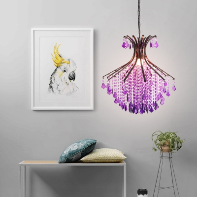Purple Chandelier with 18