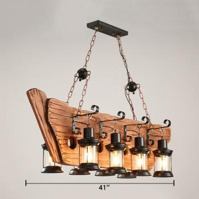 Farmhouse Cylinder Island Lighting with 18