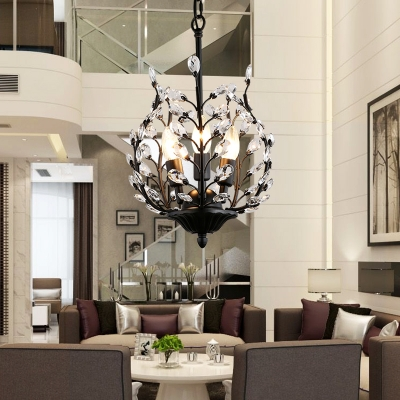 Contemporary Height Adjustable Candle Chandelier with 15