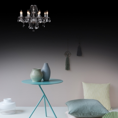 Modern Adjustable Candle Chandelier with 19.5