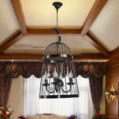 Adjustable 4 Lights Cage Light Fixture with 18