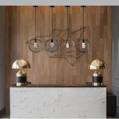 Orb Shape Kitchen Ceiling Light Fixture Length Adjustable Metal Single Light Vintage Pendant Light