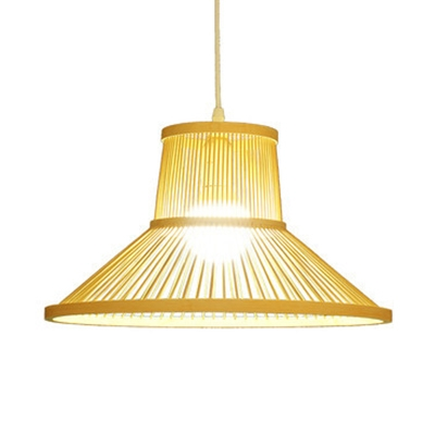 separation shoes 39194 89fec Pastoral Beige Hanging Light One Light Bamboo Pendant Lighting for