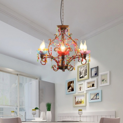 Vintage Chandelier with 18
