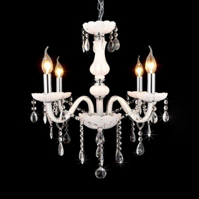 White Candle Chandelier with 12