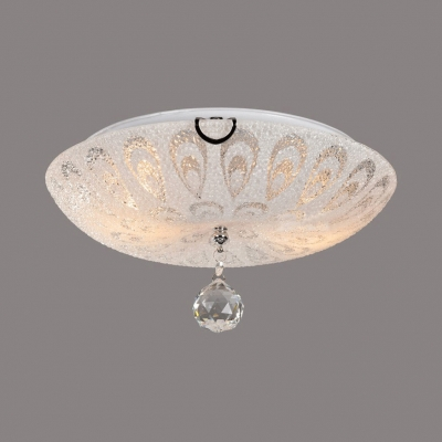 White Glass Dome Flush Mount 2 3 5 Lights Vintage Style