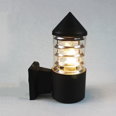 Easy-to-Install Tube Wall Light 1 LED Wireless Waterproof Security Night Light for Driveway Deck