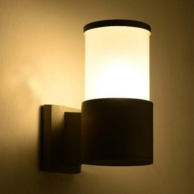 Easy-to-Install Cylindrical Wall Sconce 10 W 1/2 LED Waterproof Security Night Light for Driveway