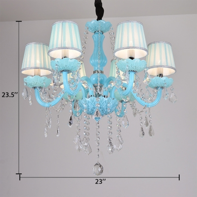 Clear Crystal Candle Chandelier with 12