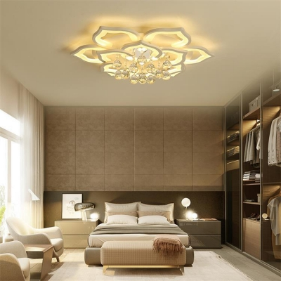 Bedroom Petal Flush Mount Lights Acrylic Contemporary White Flush