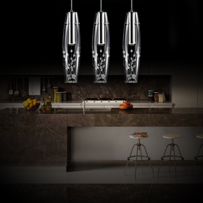 Crystal Pendant Lights for Kitchen Island with 35.5