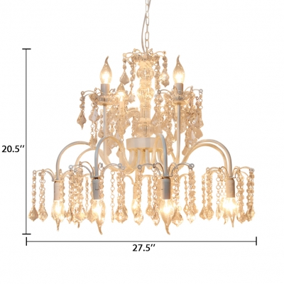 Classic Yellow Chandelier with 18