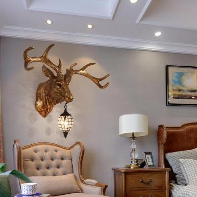 Elk Designed Indoor Wall Light Clear Crystal 1 Antique