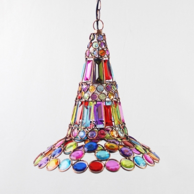 Flared Pendant Lighting Dinging Room Single Light Vintage Hanging Lamp