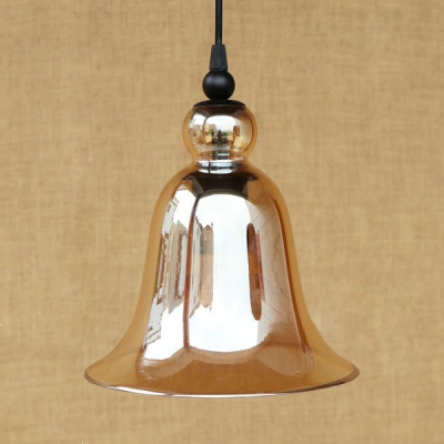 Height Adjustable Bell Pendant Light Kitchen Single Light Vintage Ceiling Hanging with 47