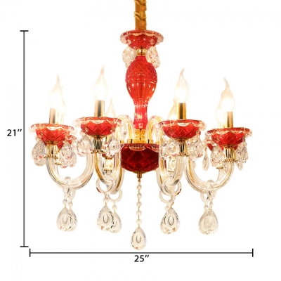 Vintage Candle Chandelier with 12