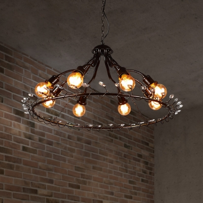 Traditional Ring Chandelier Fixture with 39