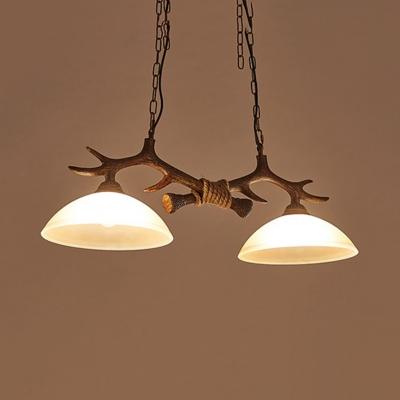 Amber Dome Island Lighting with 31.5