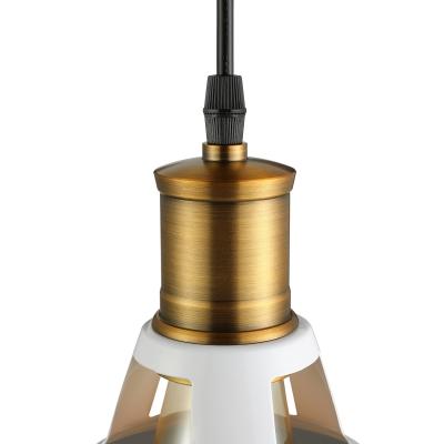 Industrial Retro Pendant Light in Bronze