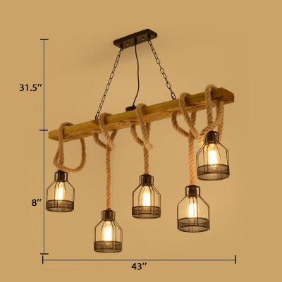 Cage Dining Room Hanging Island Lights with 31.5
