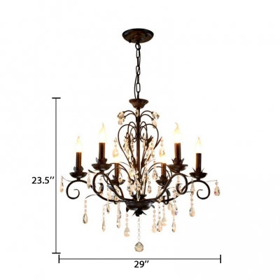 Candle Ceiling Pendant Kitchen 3/6/8 Lights Vintage Chandelier with 12