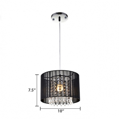 Adjustable Drum Light Fixture Living Room 1 Light Traditional Hanging Chandelier with 31.5