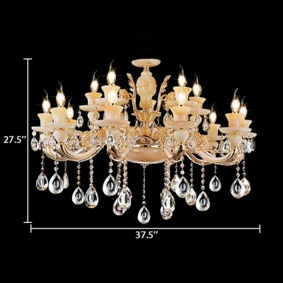 Clear Crystal Candle Hanging Lights with 23.5