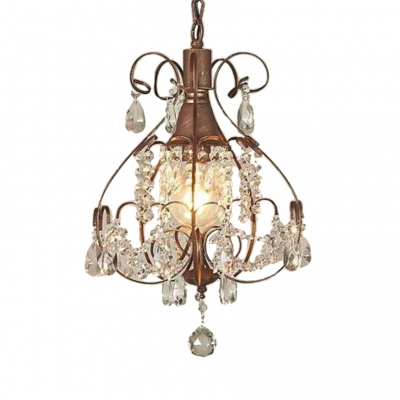 Clear Crystal Chandelier with 23.5