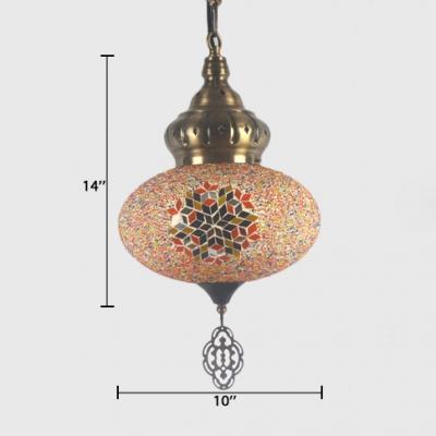 Spherical Small Pendant Lighting Mosaic Vintage Ceiling Lighting for Living Room