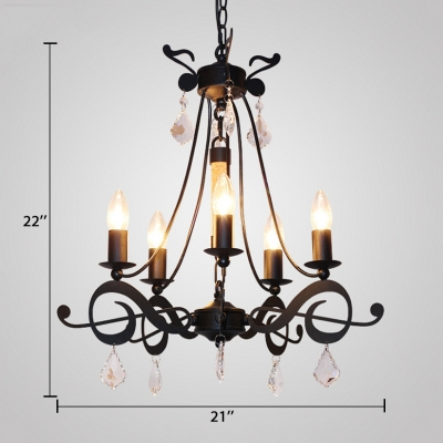 5 Lights Candle Pendant Lighting with 23.5