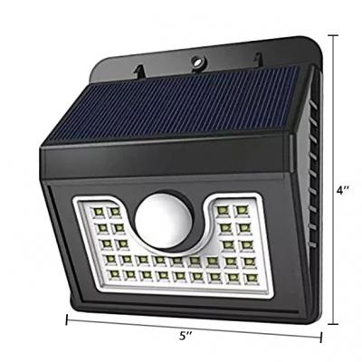 1/2/4-Pack Solar Lights Dusk to Dawn Sensor Waterproof 30 LED Wall Lighting with Motion Sensor