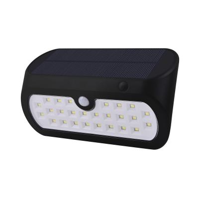 Black 26 LED Solar Lights with Motion Sensor Stainless Steel Waterproof Deck Lights for Pathway, HL511717