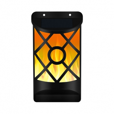 Solar Wall Light with Flickering Flame Wireless Water-Resistant Sconce Light for Patio and Fence, HL512047