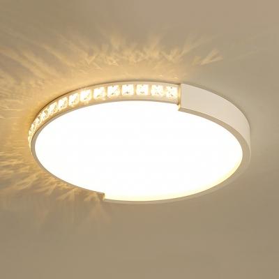 huge discount 2f375 7ae9e Bedroom Drum LED Flush Mount Light Acrylic Modern Overhead Lighting in